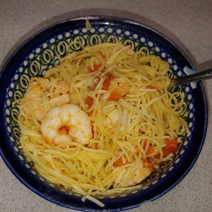 Angel Hair, Shrimp, And Tomatoes
